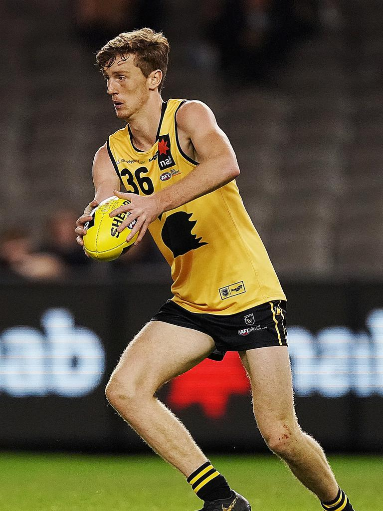 Grainger-Barras is the best key back in the draft pool. Photo: Michael Dodge/AFL Photos