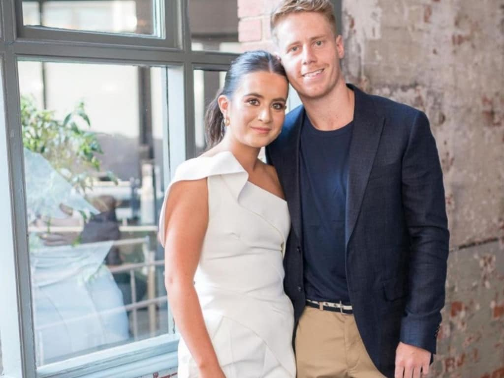 Lachie Hunter and Maddison Sullivan-Thorpe celebrated their engagement last year.